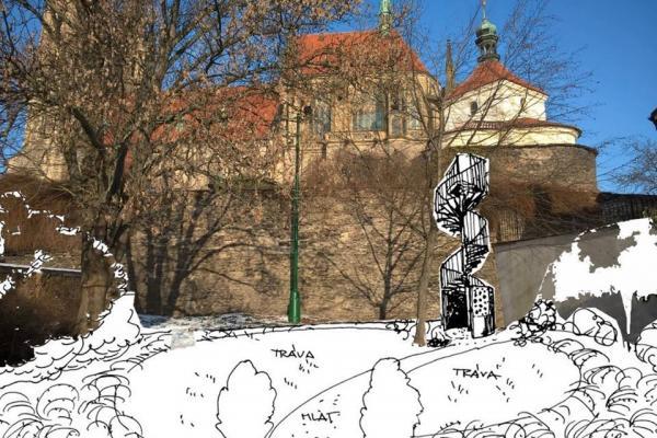 Návrh schodiště, které by mělo propojit ulici Politických vězňů a parkány u chrámu sv. Bartoloměje  | FOTO: MěÚ Kolín