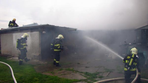 Z místa požáru | FOTO: HZS