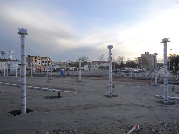 Výstavba nového autobusového terminálu před kolínským vlakovým nádražím | FOTO: Martin Prokop